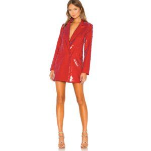 "NWOT h:ours ""Trixy"" Red Sequin Blazer Dres…"